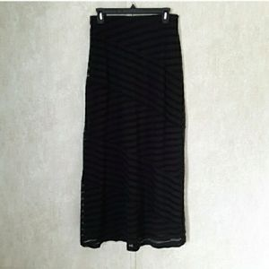 Cato black lace maxi skirt size small